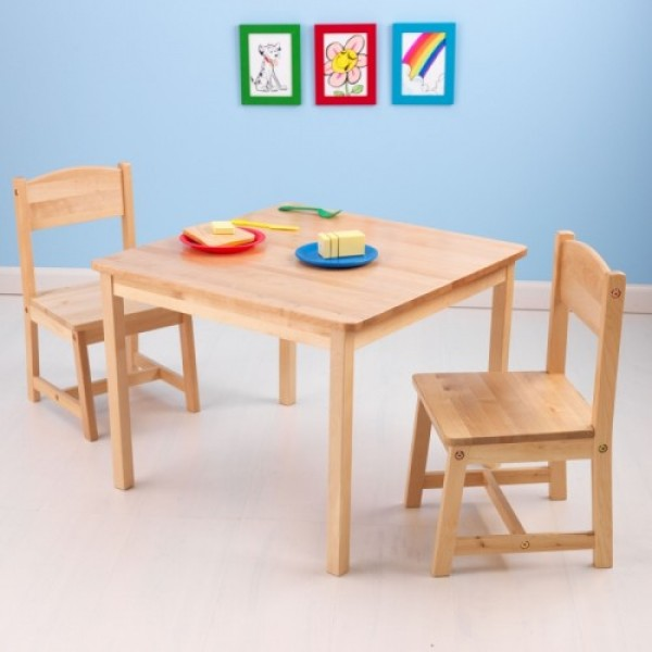 Aspen Table u0026 Chair Set - Natural & Aspen Table u0026 Chair Set - Natural | Great American Toy Company